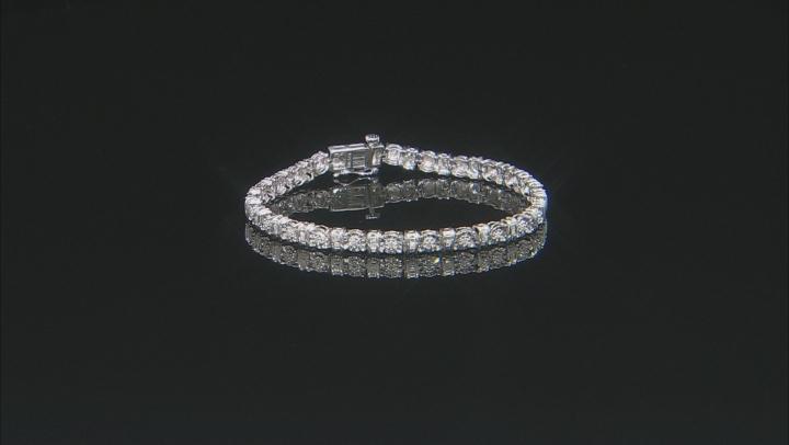 White Diamond Rhodium Over Sterling Silver Tennis Bracelet 0.25ctw