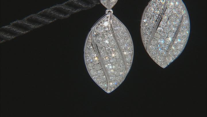 White Diamond 10k White Gold Dangle Earrings 2.85ctw