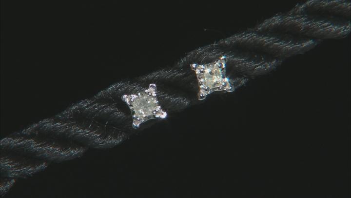 White Diamond Accent 10K White Gold Stud Earrings