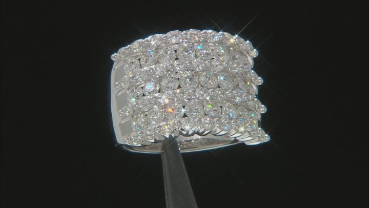 White Diamond 14K White Gold Cocktail Ring 3.00ctw