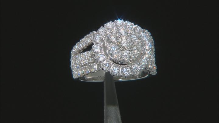 White Diamond 14K White Gold Bridge Ring 3.00ctw