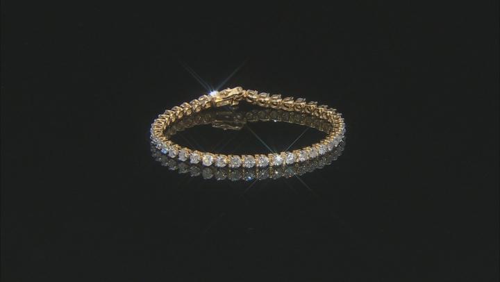 White Diamond 14K Yellow Gold Tennis Bracelet 7.00ctw