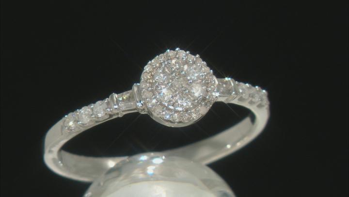 White Diamond 10K White Gold Promise Ring .25ctw