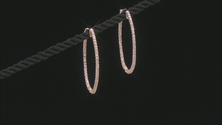 Natural Pink Diamond 14K Rose Gold Hoop Earrings 1.40ctw