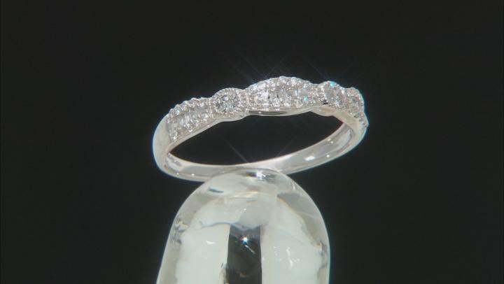 White Diamond 10K White Gold Band Ring 0.25ctw