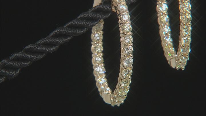 Natural Yellow Diamond 14K Yellow Gold Hoop Earrings 3.00ctw