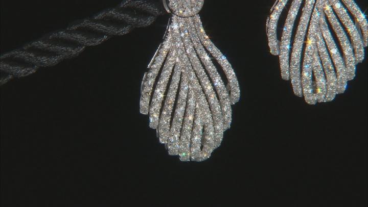 White Diamond 10K White Gold Statement Earrings 2.00ctw