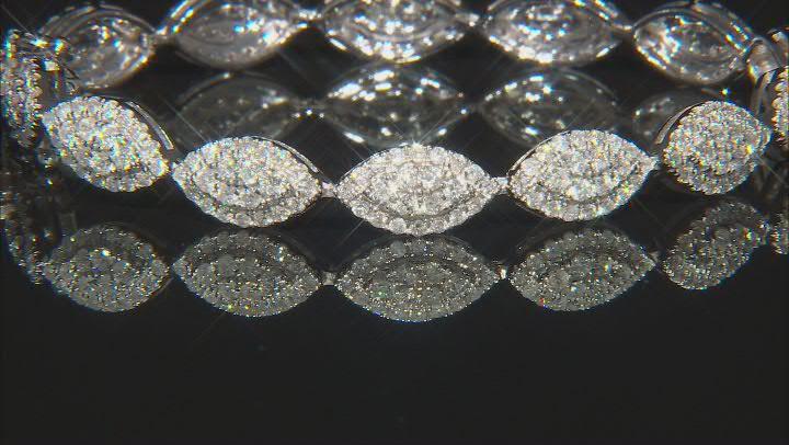 White Diamond 10K White Gold Tennis Bracelet 3.00ctw