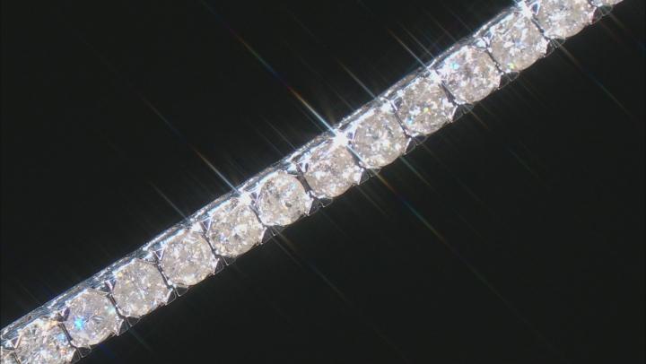 White Diamond 10K White Gold Tennis Bracelet 15.00ctw