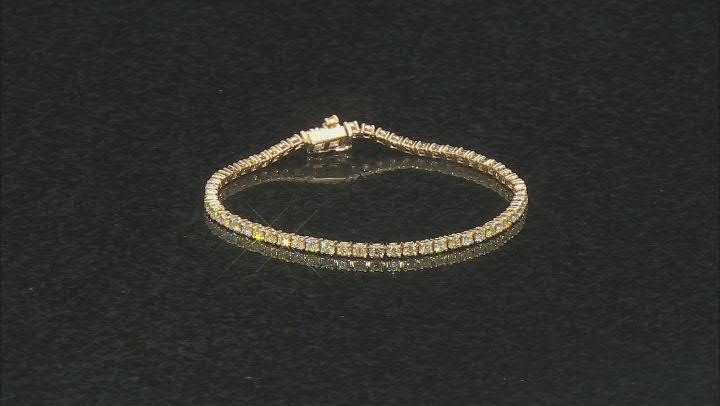 Natural Yellow Diamond 14K Yellow Gold Tennis Bracelet 3.00ctw