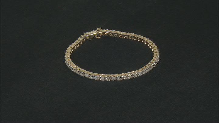 White Diamond 14K Yellow Gold Tennis Bracelet 4.00ctw