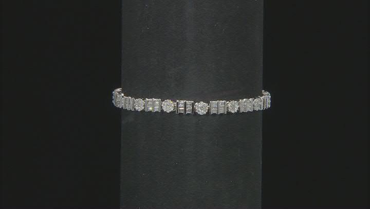 White Diamond 14K White Gold Tennis Bracelet 3.40ctw