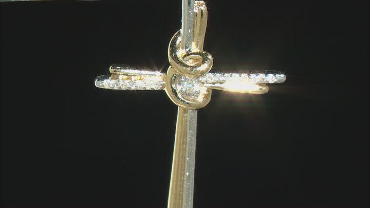 White Diamond Accent 10K Two-Tone Gold Cross Pendant