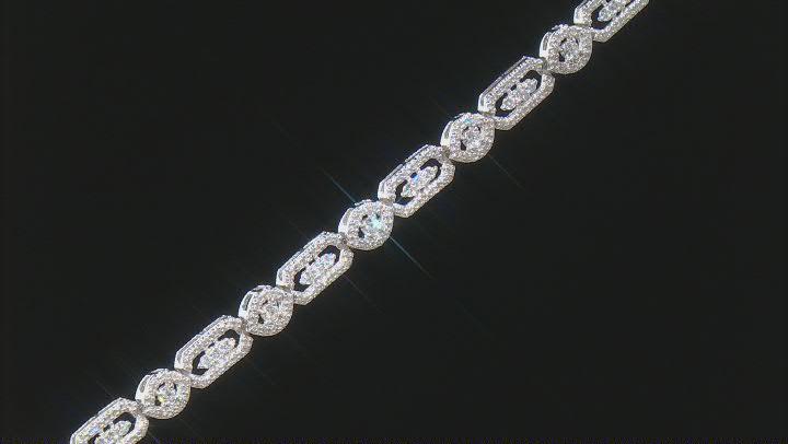 White Diamond 10K White Gold Tennis Bracelet 1.50ctw