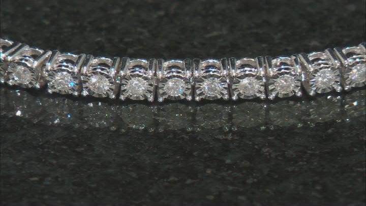 White Diamond 10K White Gold Tennis Bracelet 1.00ctw