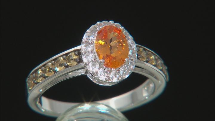 Orange Mandarin Garnet Sterling Silver Ring 1.31ctw