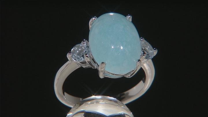 Blue Peruvian Hemimorphite Sterling Silver Ring .39ctw