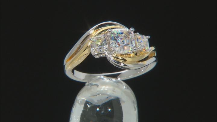 White Fabulite Strontium Titanate Two-Tone Silver Ring 2.29ctw