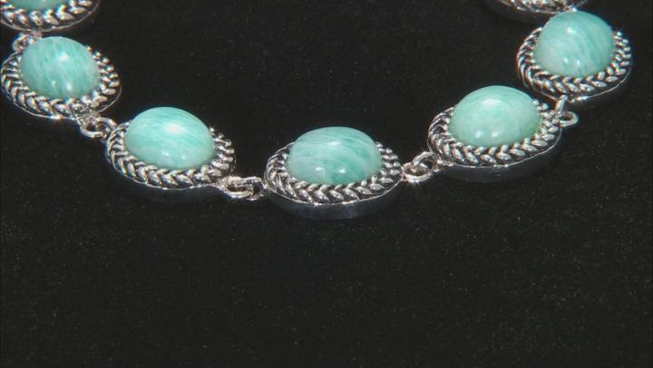 Blue Amazonite Sterling Silver Bracelet