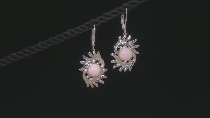 Pink Peruvian Opal Sterling Silver Dangle Earrings