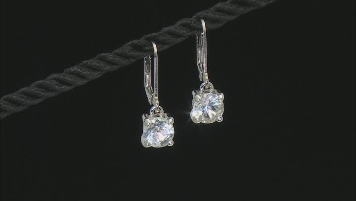 White Brazilian Goshenite Sterling Silver Solitiare Earrings 1.96ctw