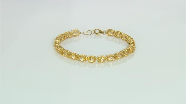 Yellow Citrine 18k yellow gold over silver bracelet Tennis Bracelet 21.15ctw