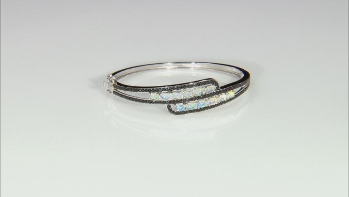 Ethiopian Opal Rhodium Over Sterling Silver Bracelet 2.00ctw