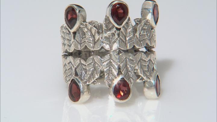 Red Garnet Sterling Silver Ring 2.00ctw