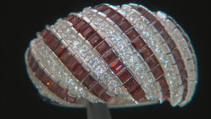 Red Garnet Rhodium Over Sterling Silver Ring 2.35ctw