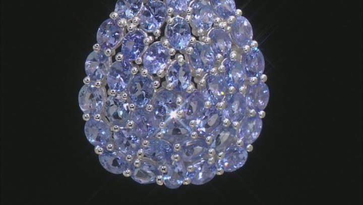 Tanzanite Rhodium Over Sterling Silver Pendant With Chain 8.00ctw