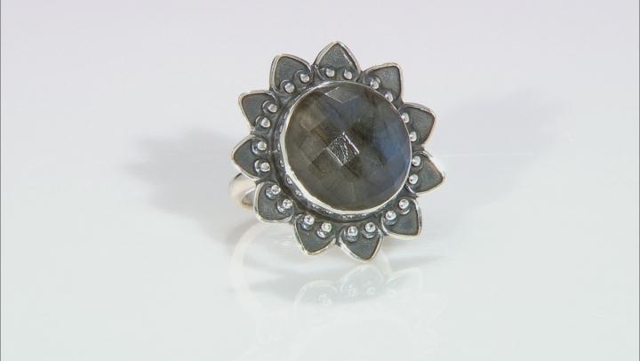 Gray Labradorite Sterling Silver Ring