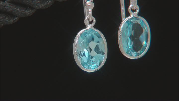 Sky Blue Topaz Rhodium Over Sterling Silver Dangle Earrings 2.60ctw