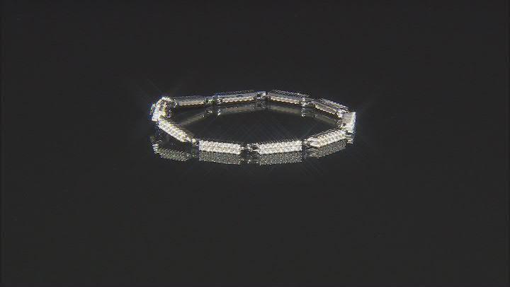 White Zircon Rhodium Over Sterling Silver Tennis Bracelet 3.00ctw