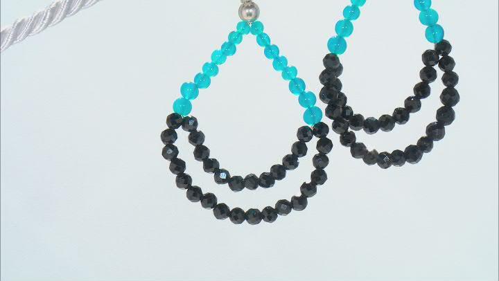Black Spinel Sterling Silver Earrings