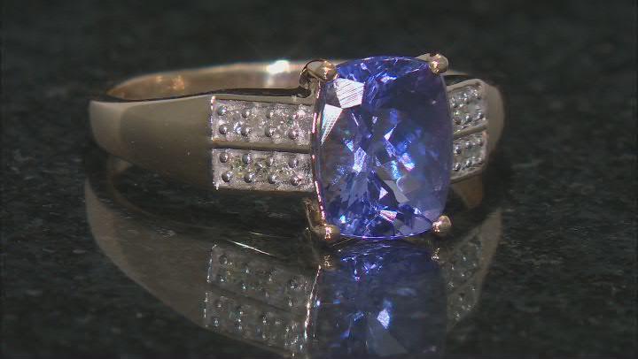 Blue Tanzanite 10K Yellow Gold Ring. 1.83ctw.