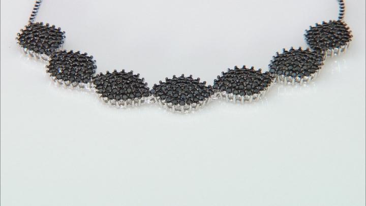 Black Spinel Rhodium Over Sterling Silver Bolo Bracelet 2.32ctw