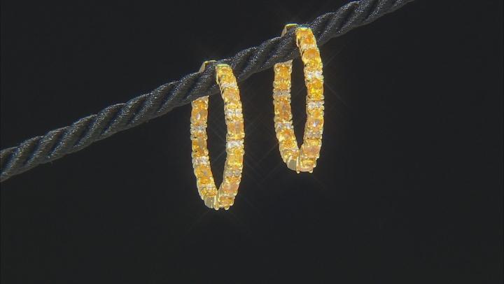 Orange Mandarin Garnet 18K Gold Over Sterling Silver 3.75ctw