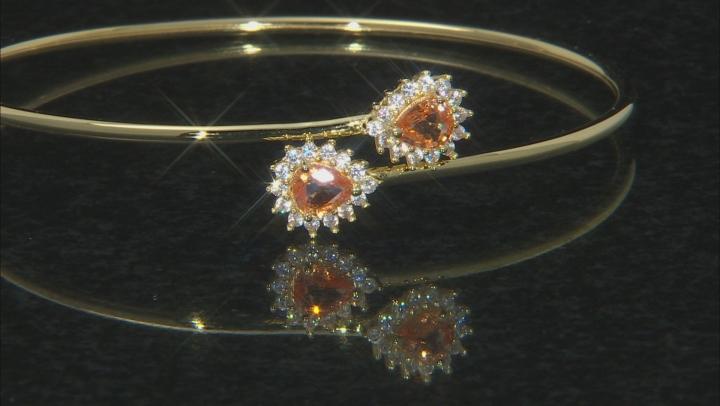 Orange Mandarin Garnet 18K Gold Over Sterling Silver Bracelet 1.95ctw
