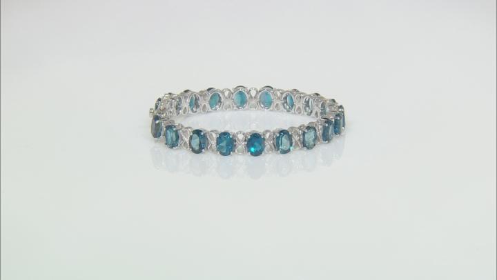 London Blue Topaz Rhodium Over Sterling Silver Bracelet 25.84ctw