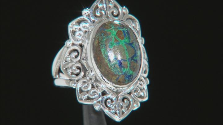 Azurmalchite Sterling Silver Ring