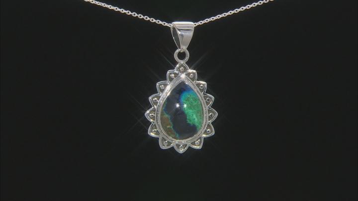 Azurmalachite Sterling Silver Pendant W/ Chain