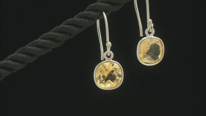 Citrine Rhodium Over Silver Earrings 2.75ctw