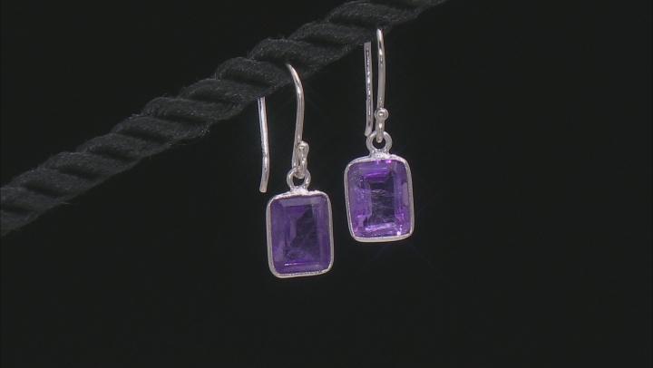 Multi-Gemstone Rhodium Over Silver Earrings Set of 3 8.00ctw