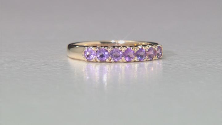 Amethyst 10k Yellow Gold Ring 0.53ctw