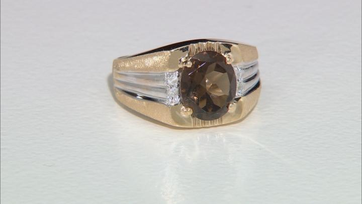 Smoky Quartz 10k Yellow Gold Ring 3.14ctw