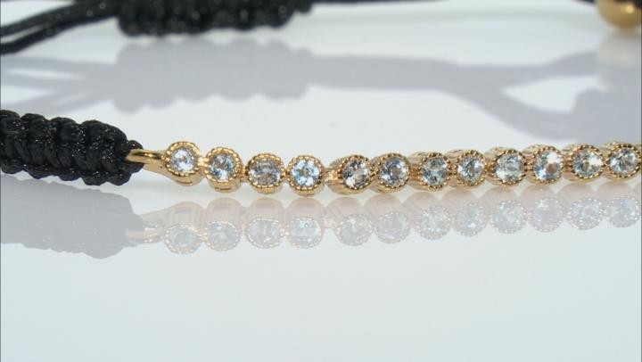 Sky Blue Topaz 18k Yellow Gold Over Sterling Silver Bracelet 0.72ctw