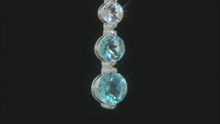 Topaz Rhodium Over Silver Pendant W/ Chain 1.92ctwctw