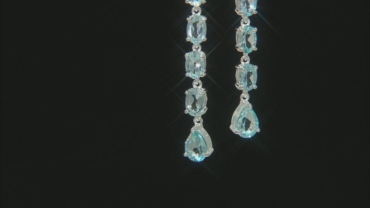 Sky Blue Topaz Rhodium Over Sterling Silver Earrings 7.86ctw