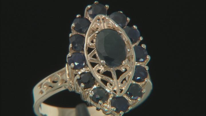 Blue Sapphire 10k Yellow Gold Ring 3.30ctw