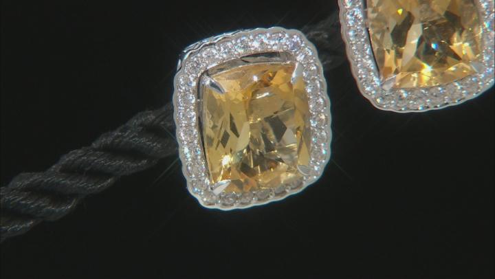 Golden Citrine Rhodium Over Sterling Silver Earrings 9.27ctw